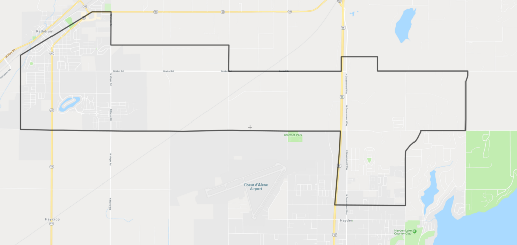 Hayden Canyon Charter Boundary Map