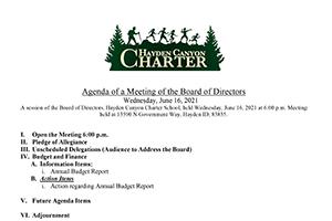 Hayden Canyoon Charter Board Meeting Agenda 12/2/17
